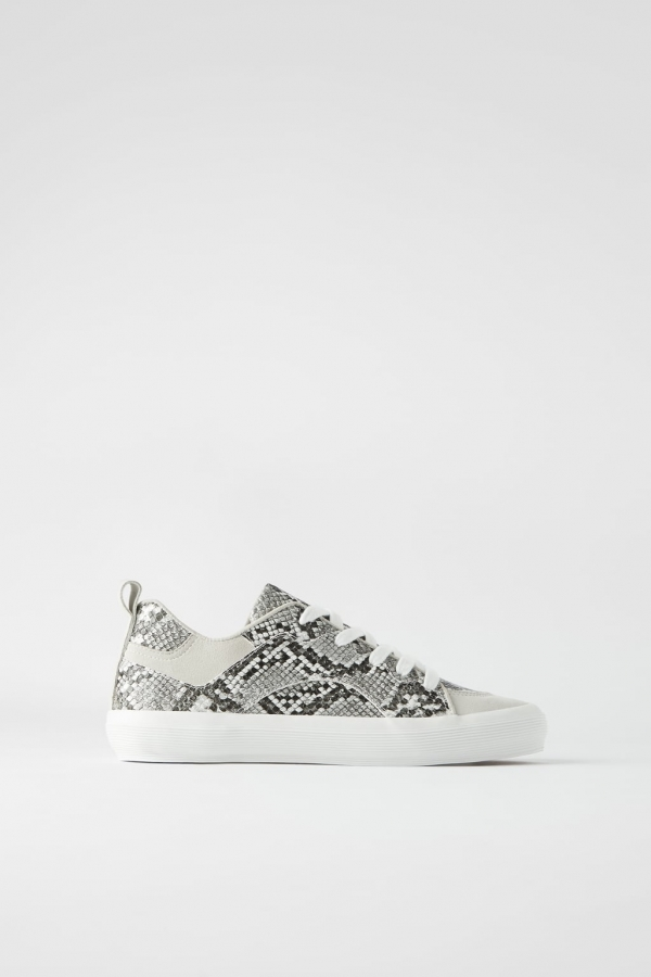 VULCANIZED RUBBER SOLE ANIMAL PRINT SNEAKERS
