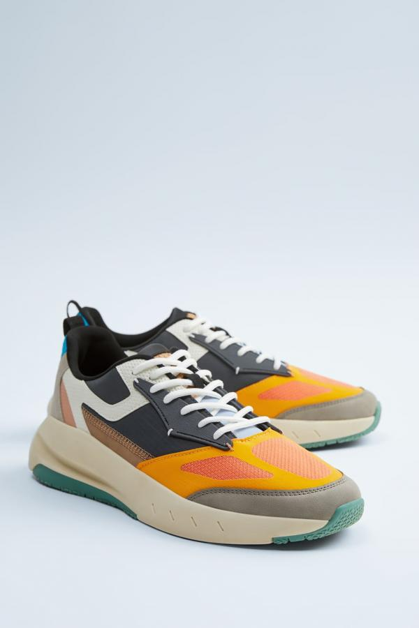 THICK-SOLED MULTICOLORED SNEAKERS